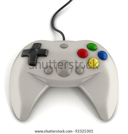 gamepad 3d icon - stock photo