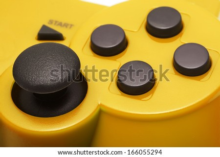 Gamepad detail on white background  - stock photo