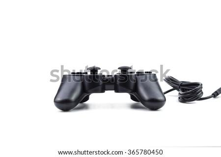 Gamepad Joystick on white background - stock photo