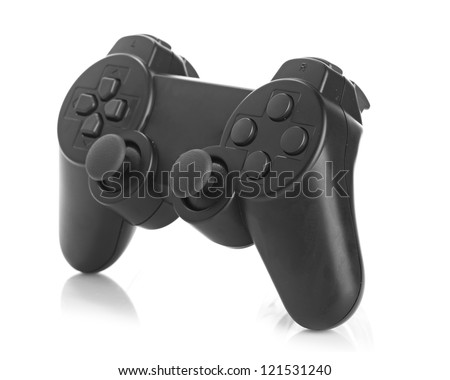 gamepad on white background - stock photo
