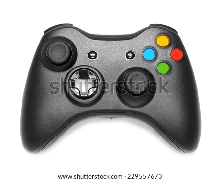 Gamepad on white background isolated