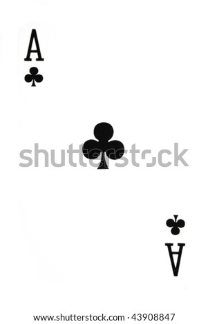 games card ace - stock photo