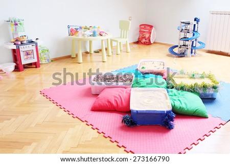 Games room in kindergarten - stock photo