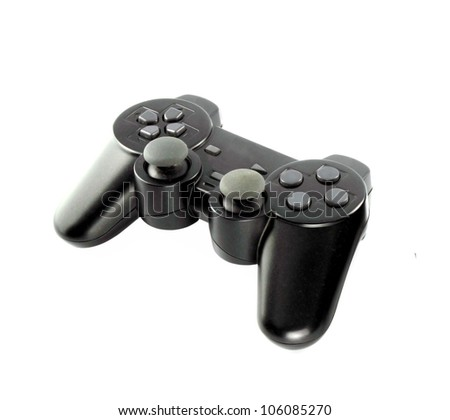 gaming console on white background