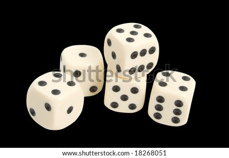 Gaming Dice isolated over black background