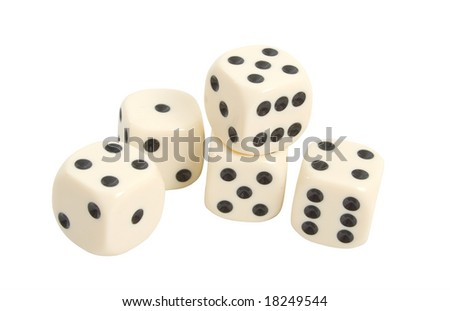 Gaming Dice isolated over white background