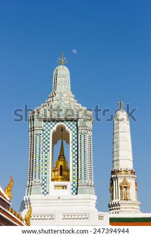 Gandhara Buddha Viharn at temple of the Emerald Buddha, Wat Phra Kaew, Bangkok, Thailand. - stock photo