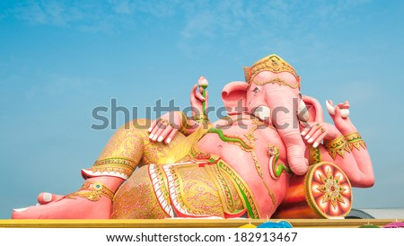 Ganesh god . Is highly respected by the people of Asia.