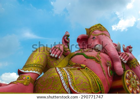 Ganesh in Chachoengsao The largest in Thailand.This statue is located in public area.