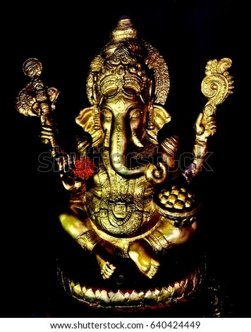 Ganesh Deity Success Brahmanism Oldest Religion Stock Photo - Oldest religion