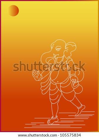 Ganesha Card - stock photo