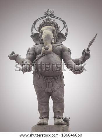 Ganesha, Hindu God - stock photo