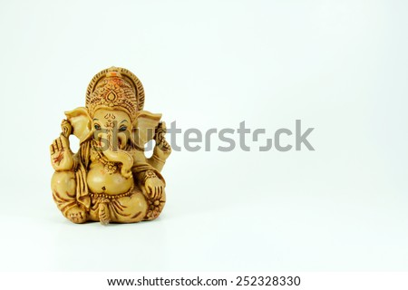 Ganesha is A sense of the Hindu mind. - stock photo