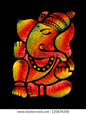 Ganesha Painting - stock photo