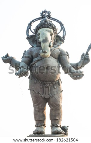Ganesha statue in standing action, Thailand - stock photo