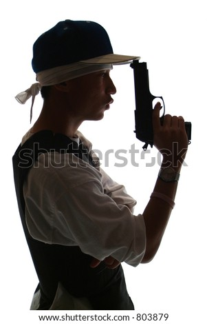 Gang member (Chuckie Ack of 21 Clipz) - stock photo