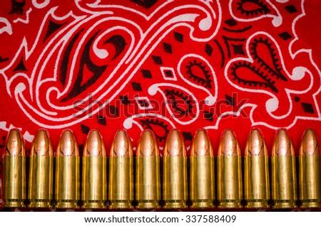 Gang Violence Abstract Bullets On Bandana Stock Photo Royalty Free