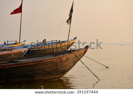 Ganga varanasi india - stock photo