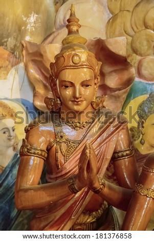 Gangaramaya Temple in Colombo, Sri Lanka - stock photo