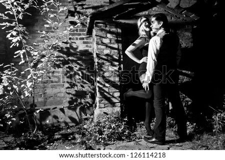 gangsters love story - stock photo