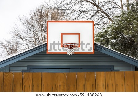 Basketball hoop stock images royalty free images for Basketball garage