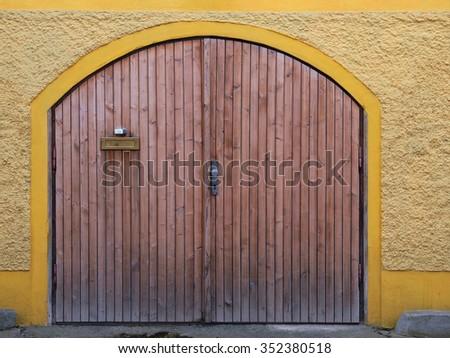 Garage door 4 - stock photo