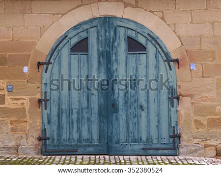 Garage door 2 - stock photo
