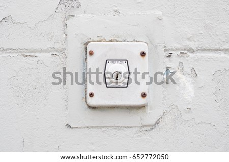 Garage Door Opener Key Switch Stock Photo Royalty Free 652772050