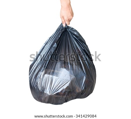 Garbage bag isolate on white background.This has clipping path - stock photo