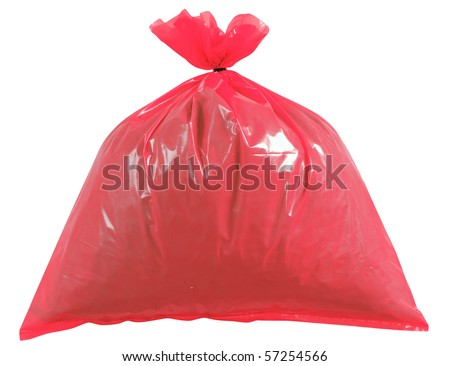 Garbage bag. Isolated - stock photo