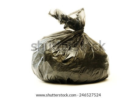 Garbage bag on white background - stock photo