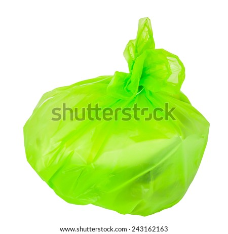 garbage bags on a white background