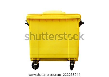 garbage container isolated on a white background - stock photo