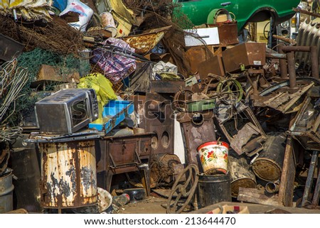 Garbage pile - stock photo