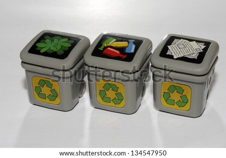 garbage recycling - stock photo