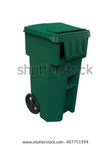 Garbage Trash Bin. 3D rendering - stock photo