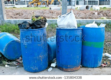 Garbage waste wait for destroy, pollution - stock photo