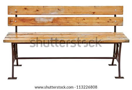 garden bench isolated on white - stock photo