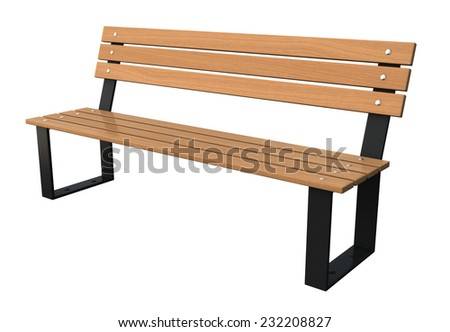 Garden bench isolated over white background