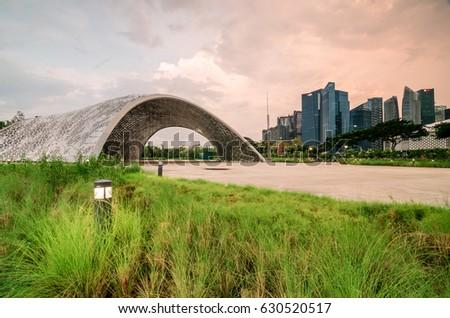 garden by the bay singapore apr 29 2017 singapore cbd area as - Garden By The Bay Exhibition