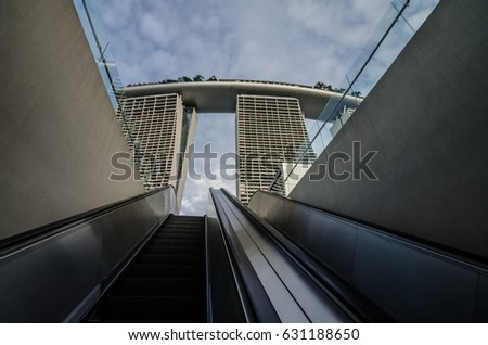 Garden By The Bay Majestic pillar bridge steel tension cables stock photo 90846506 - shutterstock
