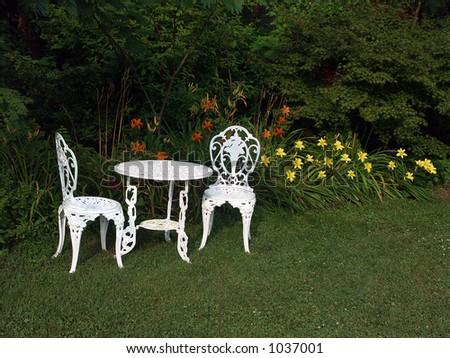 Garden Chairs - stock photo