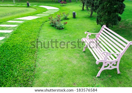 garden decoraton - stock photo