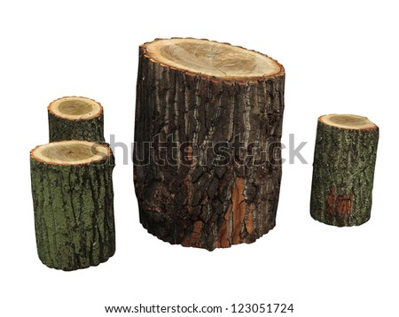 Garden furniture made from wooden log isolated on white background. Garden Furniture Isolated Stock Images  Royalty Free Images