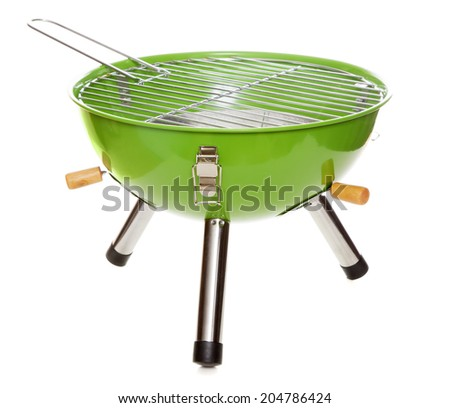 Garden grill isolated on white background - stock photo