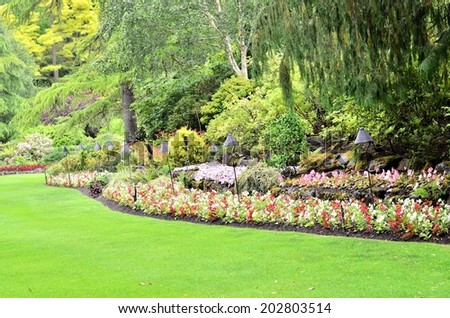 Garden landscaping - stock photo