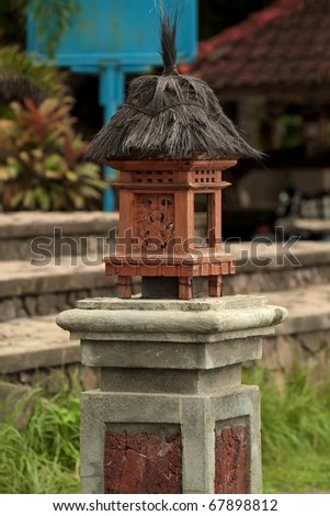 garden lantern from traditional balinese architecture