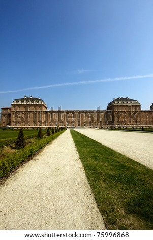 garden of Royal Palace in venaria, Turin, Italy - stock photo