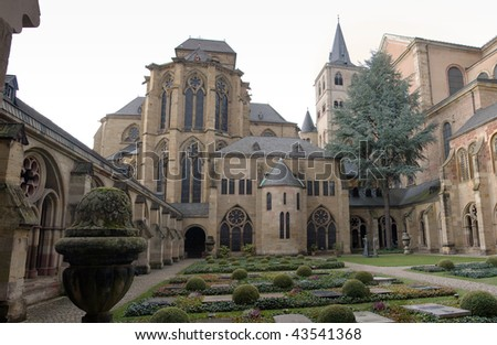 Garden of the Dom in Trier, Germany - stock photo