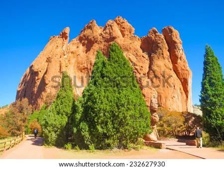Garden of the Gods, Park in Colorado Springs, Colorado, United States - stock photo
